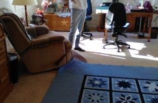 Alice and I were admiring one of her beautiful quilts. I will greatly miss my good  friend and quilting buddy. Reta Hood